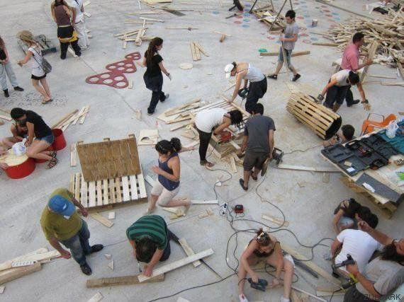 Campo de Cebada, manual de montaje de una plaza hecha a mano por y para los