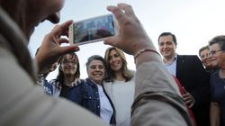 Fotos, pinchazos y el mensaje de Susana Díaz al líder del