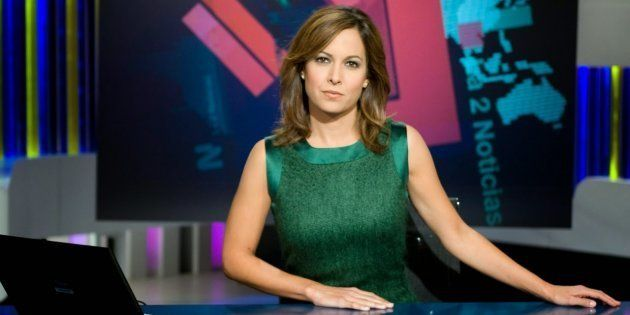 Mara Torres, periodista que conduce 'La 2 Noticias', hasta ahora bajo el mando de José Luis