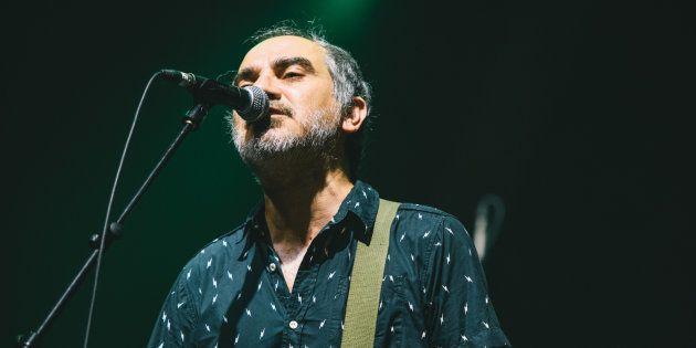 El cantante Fernando Alfaro, de Surfin' Bichos, el 15 de julio de 2017 en el