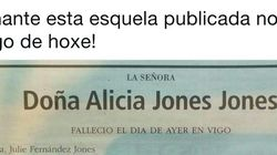 Sorpresa por esta esquela publicada en el Faro de Vigo este
