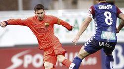Messi intenta repetir la 'mejor jugada de todos los tiempos'