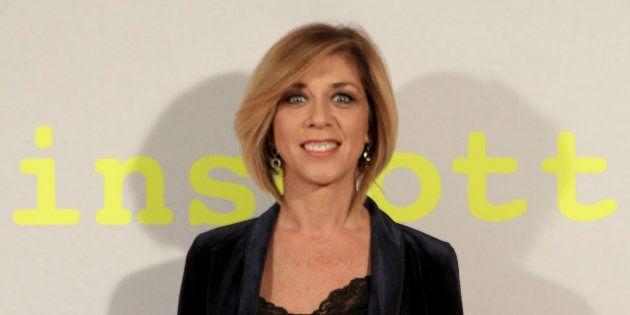 La actriz Eva Isanta, durante la presentación de 'Trainspotting' en Madrid el 3 de abril de