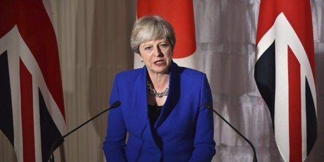 Imagen de archivo de la primera ministra británica, Theresa May, en
