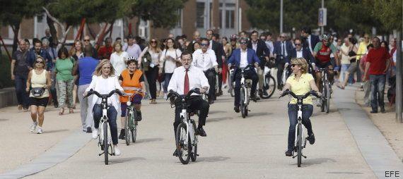 Los montajes del paseo en bicicleta de Rajoy, Aguirre y