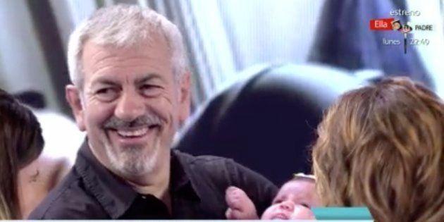 Carlos Sobera se emociona con el primer bebé de 'First