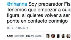 Rescatan un tuit machista de Rafa Mora dirigido a Rihanna y le llueven las