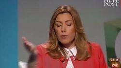Susana Díaz casi confunde el contador con un