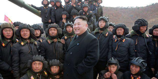 Kim Jong Un, fotografiado este año durante una competición de tanques de sus fuerzas