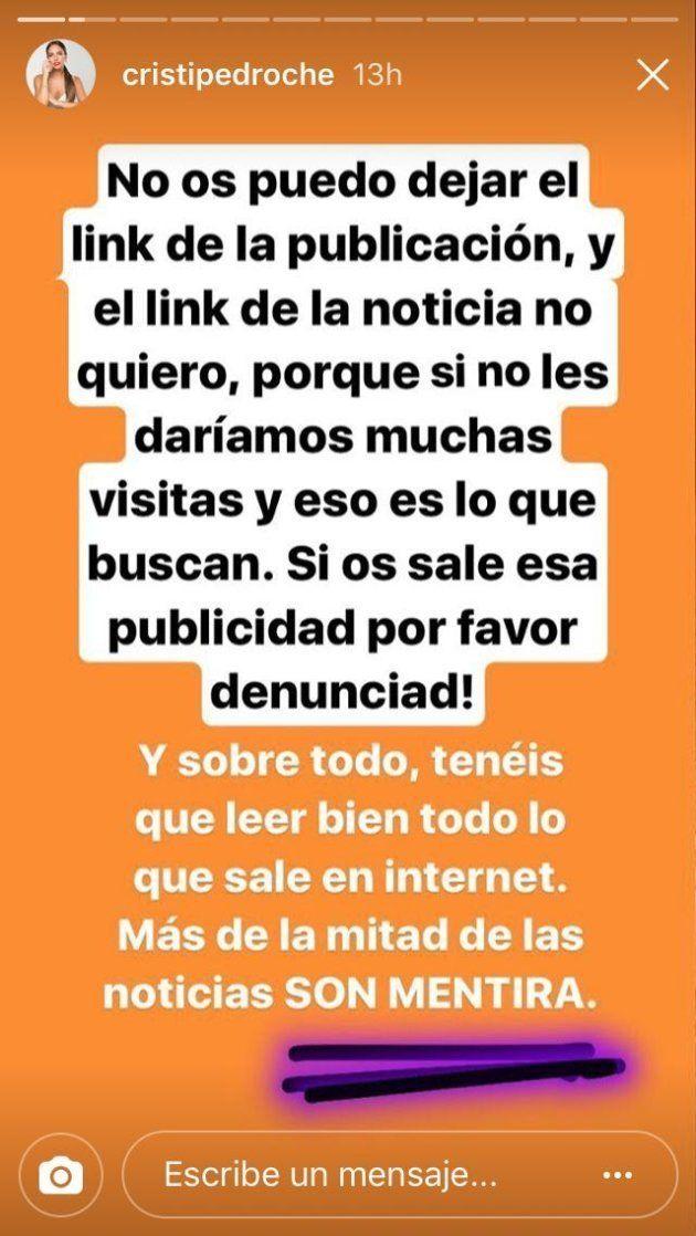 Cristina Pedroche pide ayuda para denunciar a una marca que usa su imagen sin su