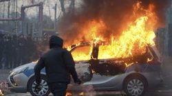 Protestas violentas ante la inauguración de la nueva sede del