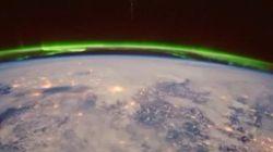 Las auroras boreales siempre son impresionantes, pero desde el espacio aún