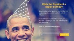 Obama quiere que le felicites por su 54