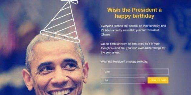 Barack Obama quiere que le felicites por su 54