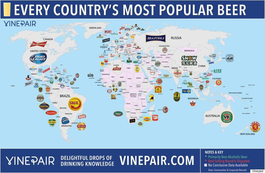 Cervezas del mundo: mapa de la más popular en cada