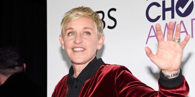 La presentadora Ellen Degeneres, en la ceremonia People's Choice Awards de 2017 en Los Ángeles