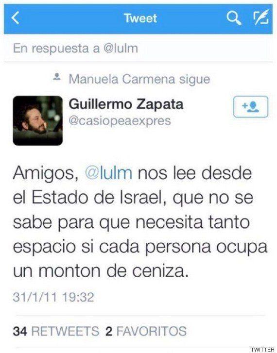 Dimite Guillermo Zapata como concejal de Cultura en Madrid por sus tuits sobre el Holocausto y
