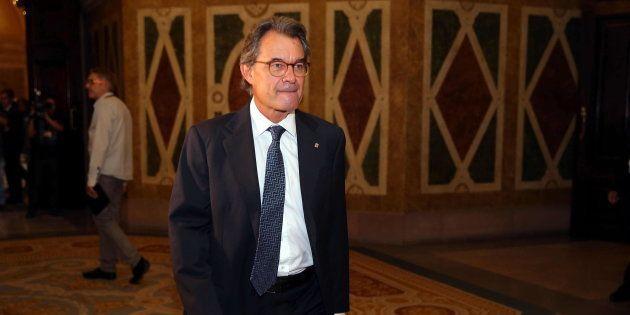 El expresidente de la Generalitat, Artur Mas, esta mañana, acudiendo como invitado al pleno del