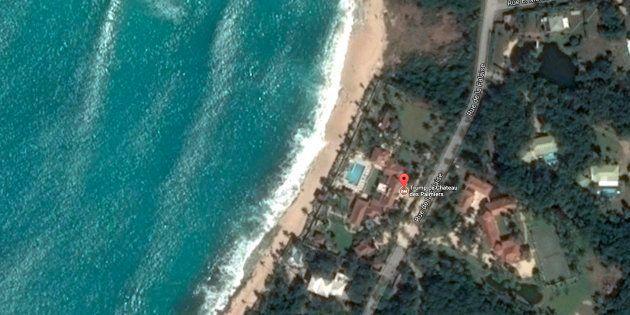 Captura de la vista aérea de la mansión de Donald Trump en la isla de San