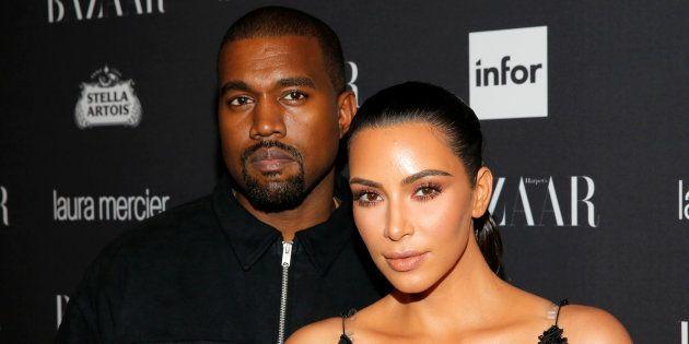 Kanye West y Kim Kardashian en una fiesta en Nueva York el 9 de septiembre de
