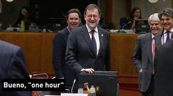 La loca respuesta de Rajoy en inglés cuando le preguntan cuándo será investido: