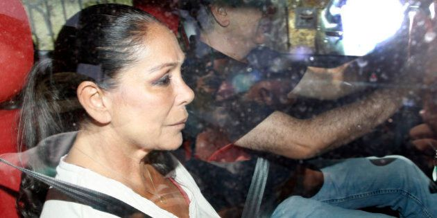 ALCALA DE GUADAIRA, SPAIN - JUNE 05: Isabel Pantoja goes back to prison on June 5, 2015 in Alcala de...