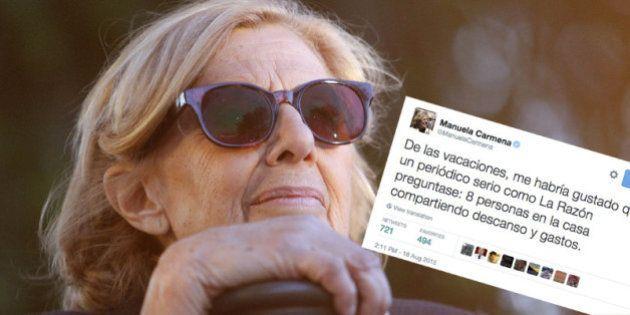 El PP y 'La Razón' critican las vacaciones de Manuela Carmena y ella