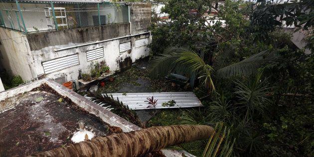 Vista de destrozos causados por Irma en el barrio de Santurce, en San Juan (Puerto Rico), este