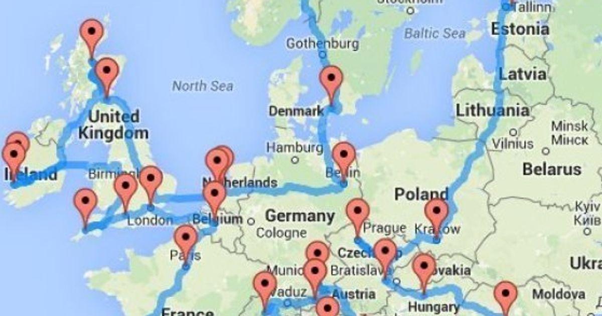 Si Quieres Hacer Una Ruta En Coche Por Europa Este Mapa Te Puede Ayudar El Huffpost
