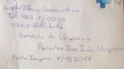 JJ Vaquero se mofa con este folio del parte médico de David