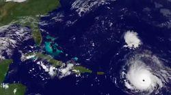 El avance del huracán