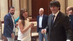 Las risas de Sánchez-Camacho y Puigdemont en el bar del Parlament: