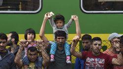 Medio millar de refugiados pasan la noche en un tren en