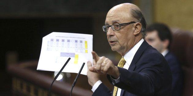 El ministro de Hacienda, Cristóbal Montoro, en un pasado Pleno del Congreso en