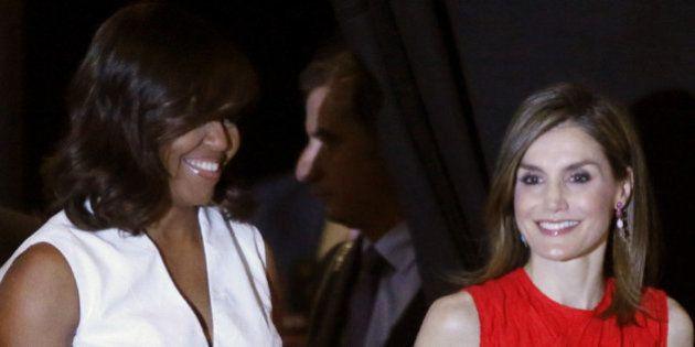 Michelle Obama y la reina Letizia, juntas en Madrid en favor de la escolarización de las