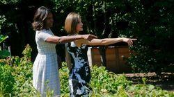Michelle Obama se lleva a Letizia al huerto