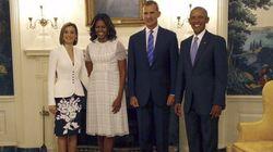 Así ha sido el encuentro de los Reyes con los Obama en la Casa Blanca