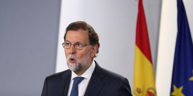 Mariano Rajoy en el Palacio de la Moncloa el 7 de septiembre de