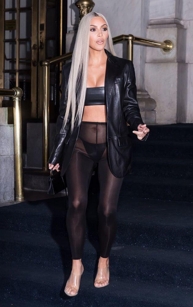 Kim Kardashian West, durante la semana de la moda de Nueva