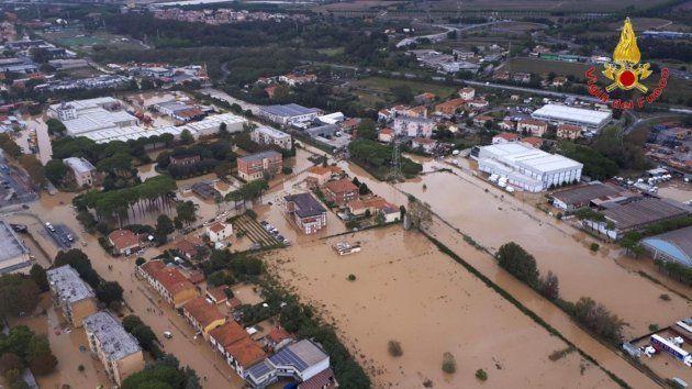 Los alrededores de Livorno, en Italia, también han sufrido las
