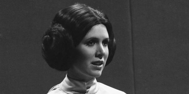 SATURDAY NIGHT LIVE -- Episode 6 -- Air Date 11/18/1978 -- Pictured: Carrie Fisher as Princess Leia during...