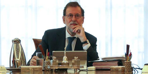 Mariano Rajoy, durante el Consejo de Ministros extraordinario sobre el problema catalán del pasado 7...