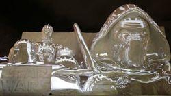 Las impresionantes esculturas de hielo de 'Star Wars' en este festival