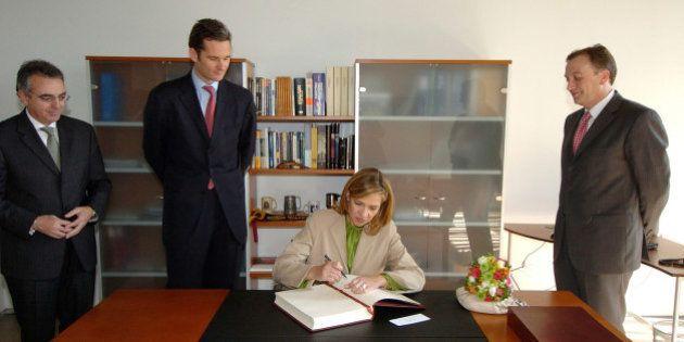 La infanta Cristina firmó los papeles de Nóos
