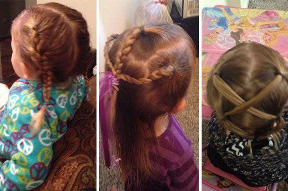 El padre que aprendió a hacer peinados a su hija ha sido toda una inspiración para muchos otros