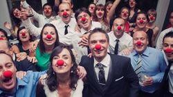 Las narices rojas en esta boda son mucho más importantes de lo que