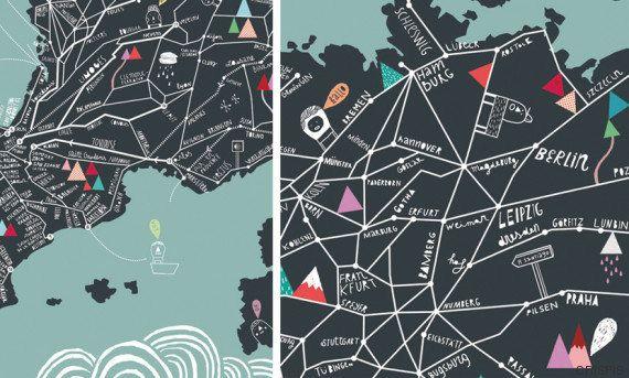 No orientan pero inspiran: los mágicos mapas de Estudio
