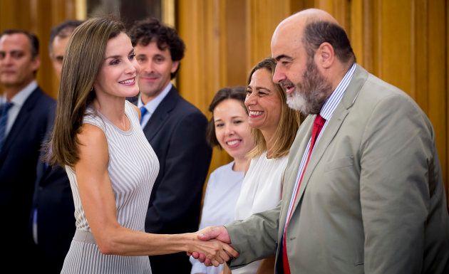 La reina Letizia en una audiencia en la Zarzuela el 5 de septiembre de