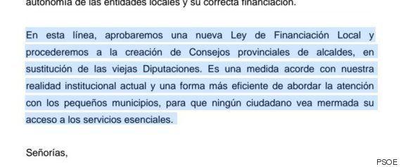 Pedro Sánchez se salta la parte de la supresión de las diputaciones en su