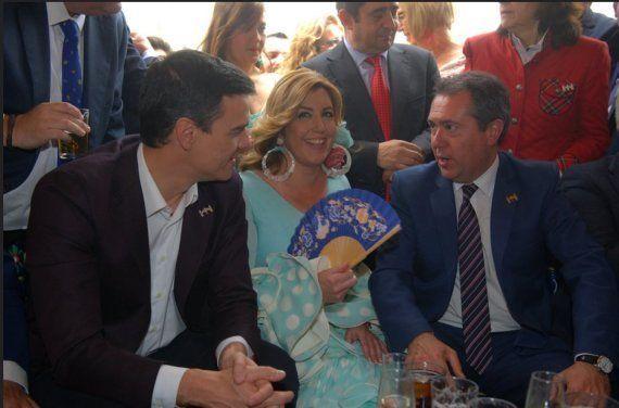 El reencuentro de Pedro Sánchez y Susana Díaz en la Feria de Abril